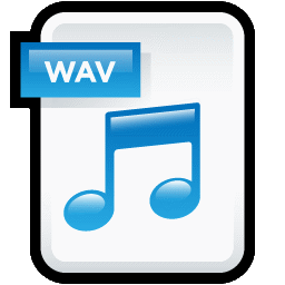 how to change audio file to wav